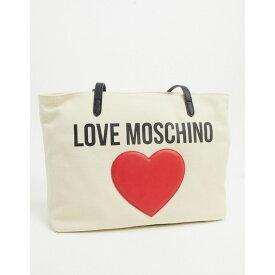 モスキーノ Love Moschino レディース トートバッグ キャンバストート バッグ【canvas tote bag with large logo in ivory】Ivory