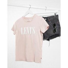 リーバイス Levi's レディース Tシャツ ロゴTシャツ トップス【Perfect 90's logo tee in dusk pink】Serif sepia rose
