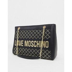 モスキーノ Love Moschino レディース トートバッグ バッグ【logo studded tote bag in black】Black