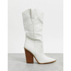 スティーブ マデン Steve Madden レディース ブーツ シューズ・靴【Renzo calf boot in white】White
