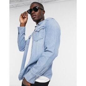 リーバイス Levi's メンズ シャツ デニム トップス【barstow western denim long sleeve shirt in blue】Blue