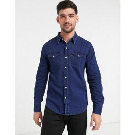 リーバイス Levi's メンズ シャツ フランネルシャツ トップス【barstow western indigo flannel long sleeve shirt】Blue