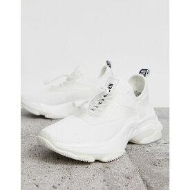 スティーブ マデン Steve Madden レディース スニーカー チャンキーヒール シューズ・靴【Match white chunky trainers】White