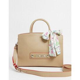 モスキーノ Love Moschino レディース トートバッグ バッグ【tote bag with scarf handle in beige】Beige