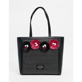 モスキーノ Love Moschino レディース トートバッグ バッグ【tote bag with novelty applique in black】Black