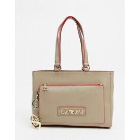 モスキーノ Love Moschino レディース トートバッグ キーチェーン バッグ【tote bag with keychain in beige】Beige