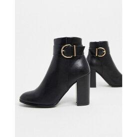 エイソス ASOS DESIGN レディース ブーツ ショートブーツ シューズ・靴【Retreat heeled ankle boots in black】Black
