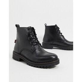リーバイス Levi's レディース ブーツ レースアップブーツ シューズ・靴【tracky leather lace up boots】Regular black