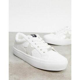 スティーブ マデン Steve Madden レディース スニーカー シューズ・靴【Samiya Trainer In White Croc】White