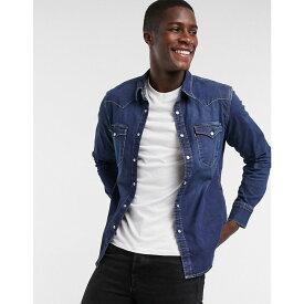 リーバイス Levi's メンズ シャツ デニム トップス【Barstow Western Standard Denim Shirt In Dark Worn Wash】Blue