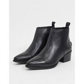 リーバイス Levi's レディース ブーツ ショートブーツ シューズ・靴【Gaia Leather Pointed Toe Ankle Boots】Regular black