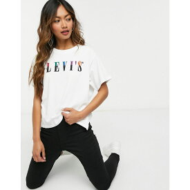 リーバイス Levi's レディース Tシャツ トップス【Graphic Varsity Tee In White】Multicolour white