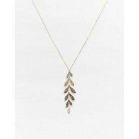 フレンチコネクション French Connection レディース ネックレス ジュエリー・アクセサリー【Leaf Drop Gold Necklace】Gold