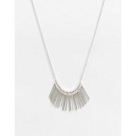 フレンチコネクション French Connection レディース ネックレス ジュエリー・アクセサリー【Fringed Silver Necklace】Silver