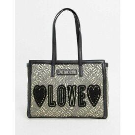 モスキーノ Love Moschino レディース トートバッグ バッグ【Love Jacquard Tote Bag In Gold And Black】Gold/black