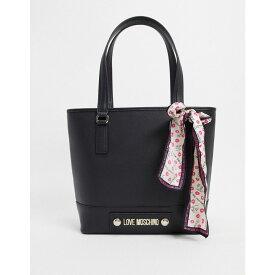 モスキーノ Love Moschino レディース トートバッグ バッグ【Tote Bag With Scarf In Black】Black