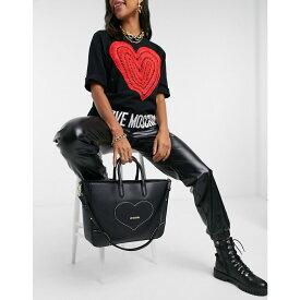 モスキーノ Love Moschino レディース トートバッグ バッグ【Embroidery Of Love Large Tote Bag In Black】Black