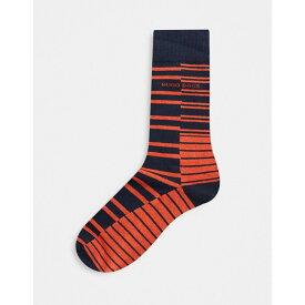 ヒューゴ ボス BOSS メンズ ソックス インナー・下着【Broken Striped Socks】Blue