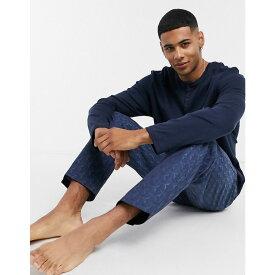 ヒューゴ ボス BOSS メンズ パジャマ・上下セット インナー・下着【Premium Long Sleeve T-Shirt And Trouser Lounge Set】Blue