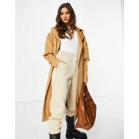 アイソウイットファースト I Saw It First レディース トレンチコート アウター【Puff Sleeve Trench Coat In Brown】Brown