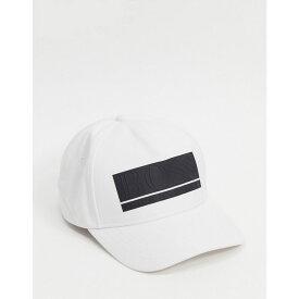 ヒューゴ ボス BOSS メンズ キャップ ベースボールキャップ 帽子【Baseball Cap With Panel Logo/ Black】White