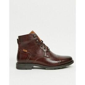リーバイス Levi's メンズ ブーツ シューズ・靴【Reddinger Leather Boot With Laces】Brown