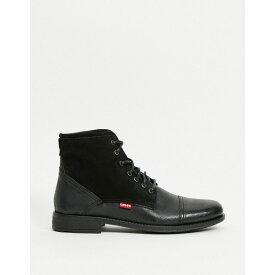 リーバイス Levi's メンズ ブーツ シューズ・靴【Fowler Leather Boot With Laces】Black