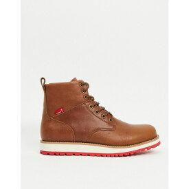 リーバイス Levi's メンズ ブーツ シューズ・靴【Jax Lux Leather Boot With Laces】Brown