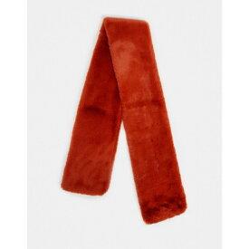 Jayley レディース マフラー・スカーフ・ストール 【Long Faux Fur Scarf In Rust】Rusty red