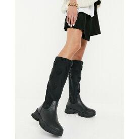 モスキーノ Love Moschino レディース ブーツ シューズ・靴【Heart Knee High Boots】Black