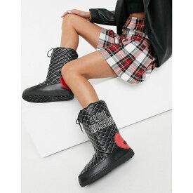 モスキーノ Love Moschino レディース ブーツ スノーブーツ シューズ・靴【Snow Boots In Black】Black/red