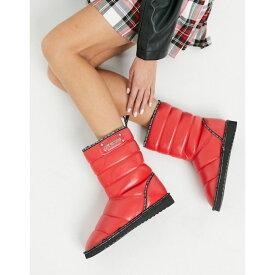 モスキーノ Love Moschino レディース ブーツ シューズ・靴【Puffer Boots】Red