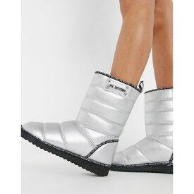 モスキーノ Love Moschino レディース ブーツ シューズ・靴【Puffer Boots】Silver