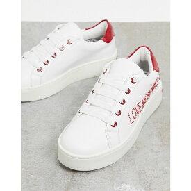 モスキーノ Love Moschino レディース スニーカー レースアップ シューズ・靴【Lace Up Trainers】White
