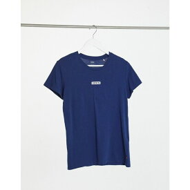 リーバイス Levi's レディース Tシャツ トップス【Small Front Logo T-Shirt In Navy】Medieval blue