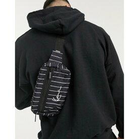 カール カナイ Karl Kani メンズ ボディバッグ・ウエストポーチ バッグ【Signature logo pinstripe hip bag in black】Black