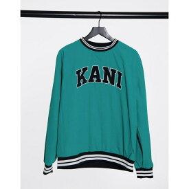 カール カナイ Karl Kani メンズ スウェット・トレーナー トップス【Serif sweatshirt in turquoise】Turquoise
