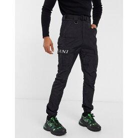 カール カナイ Karl Kani メンズ カーゴパンツ ボトムス・パンツ【Retro crinkle cargo trousers in black】Black