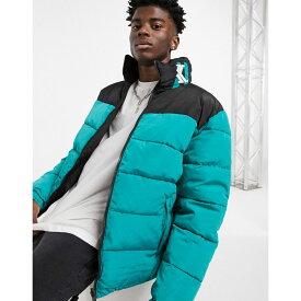 カール カナイ Karl Kani メンズ ダウン・中綿ジャケット アウター【OG Block reversible puffer jacket in turquoise/black】Turquoise/black