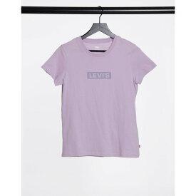 リーバイス Levi's レディース Tシャツ トップス【perfect tee in lavender】Tonal box tab lavend