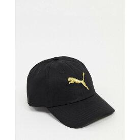 プーマ Puma レディース キャップ 帽子【Essentials Cap In Black And Gold】Puma black