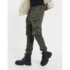 ブレイブソウル Brave Soul メンズ カーゴパンツ ボトムス・パンツ【Front Pocket Cargo Trousers In Grey】Dark grey