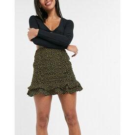 コレクティブザラベル Collective The Label レディース スカート 【Collective the Label ruched skirt co-ord in black ochre heart print】Multi