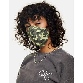トップショップ Topshop レディース 雑貨 デザインマスク ブランド【green camouflage print fashion face mask】Green