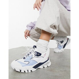 カルバンクライン Calvin Klein レディース スニーカー シューズ・靴【Jeans clarice chunky trainers in white and blue mix】White/chambray blue