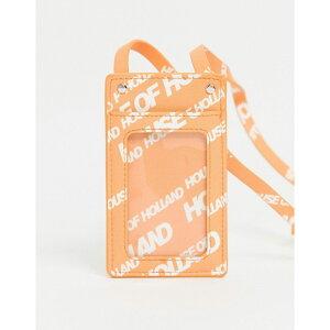 ハウス オブ ホーランド House of Holland レディース カードケース・名刺入れ カードホルダー ネックストラップ【Logo Lanyard Card Holder In Orange】Or/orange