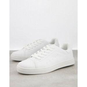 ロイヤリティ&フェイス Loyalty & Faith メンズ スニーカー レースアップ シューズ・靴【Loyalty and Faith minimal lace up trainers in white】White