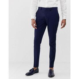 【残り一点限り!】【サイズ:W34inL30in】エイソス ASOS【super skinny suit trousers in navy Navy】メンズ ボトムス・パンツ スラックス【あす楽】