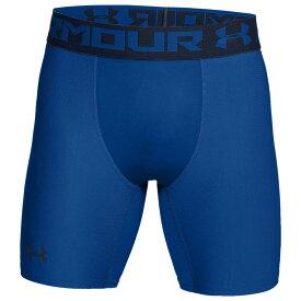 【残り一点限り!】【サイズ:M】アンダーアーマー Under Armour【HG Armour 2.0 6 Compression Shorts Royal/Steel】メンズ フィットネス・トレーニング ボトムス・パンツ【あす楽】