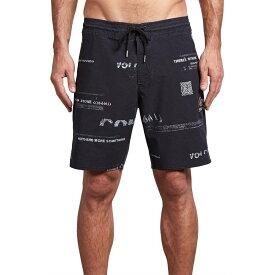 【残り一点限り!】【サイズ:34】ボルコム Volcom【Nothing More Stoney 19in Boardshorts Black White】メンズ サーフィン ボトムス・パンツ【あす楽】